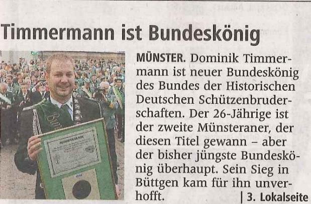 Westfälische Nachrichten vom 22.09.2015