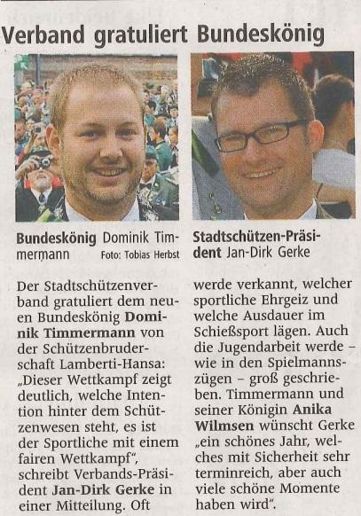 Westfälische Nachrichten vom 23.09.2015