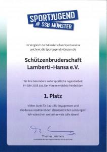 SSB Urkunde